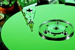 Grünes Festplattenlaufwerk Lizenzfreie Stockfotografie