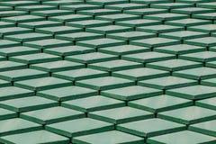 Grünes Fliesedach lizenzfreie stockbilder