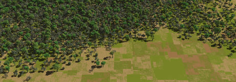 Grünes Forrest lizenzfreie abbildung