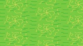 Grünes gelbes Blumenmuster Stockbilder