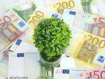 Grünes Geld stockfoto