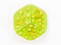 Grünes Gelee der Banane Lizenzfreie Stockfotos