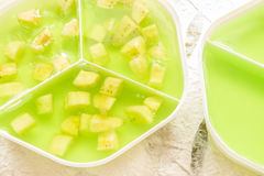 Grünes Gelee der Banane Stockfotografie