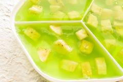 Grünes Gelee der Banane Stockbilder