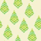 Grünes geometrisches abstraktes nahtloses Muster lizenzfreie abbildung
