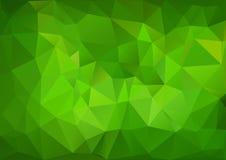 Grünes geometrisches Muster stock abbildung