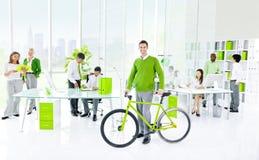 Grünes Geschäftslokal Stockfotografie