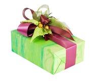 Grünes Geschenk gox Lizenzfreies Stockfoto
