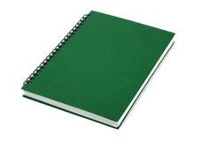 Grünes geschlossenes Buch lizenzfreie stockfotos