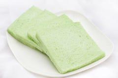 Grünes geschmackloses Brot Stockfotografie