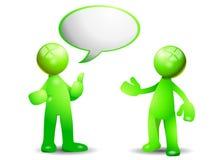 Grünes Gespräch lizenzfreie abbildung