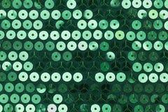Grünes Gewebe mit genähten Kreisen Lizenzfreie Stockbilder