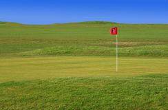 Grünes Golfgericht lizenzfreie stockfotos