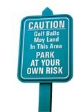 Grünes Golfzeichen. Stockbild
