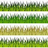 Grünes Gras-Fahnen Lizenzfreie Stockfotografie