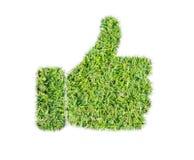 Grünes Gras greift herauf Ikone ab stockfoto