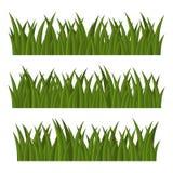Grünes Gras-Grenzen eingestellt auf weißen Hintergrund Vektor vektor abbildung