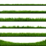 Grünes Gras-Grenzgroße Sammlung vektor abbildung