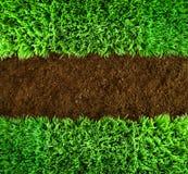 Grünes Gras und Erde Hintergrund Lizenzfreies Stockbild