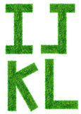 Grünes Gras-Zeichen trennte Lizenzfreies Stockfoto