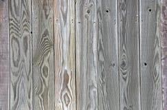 Grünes Grey Tinted Wood-Zaunhintergrund-Brett uniq lizenzfreies stockbild