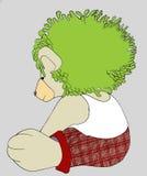 Grünes Haar Teddybear Lizenzfreie Stockfotografie