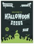 Grünes Halloween-Plakat Stockbilder