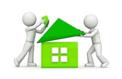 Grünes Haus. Stockfoto
