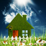Grünes Haus. Lizenzfreies Stockbild