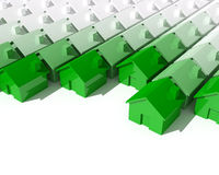 Grünes Haus 3d stock abbildung