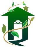 Grünes Haus lizenzfreie abbildung