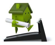 Grünes Haus Lizenzfreies Stockbild
