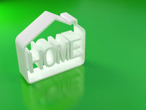 Grünes Haus vektor abbildung