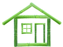 Grünes Haus Stockfotografie