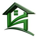 Grünes Haus für Verkauf Stockbild