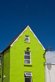 Grünes Haus in Galway lizenzfreies stockfoto