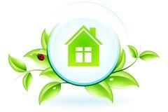 Grünes Haus-Symbol Lizenzfreie Stockfotos