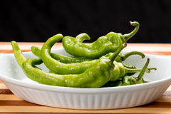 Grünes heißes papper (Jwala) Stockfotografie