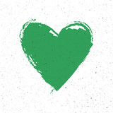 Grünes Herzzeichen auf Papierbeschaffenheit Vektor, eps10 Stockfotos