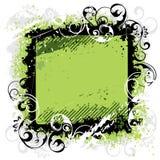 Grünes Hintergrundschwarzfeld Stockfotografie