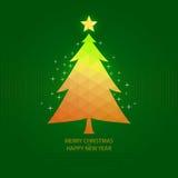 Grünes Hintergrundweihnachten Stockfoto