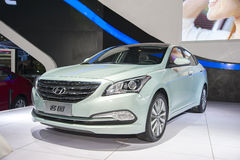 Grünes Hyundai-mistra Auto Lizenzfreie Stockfotos