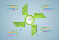 Grünes Infographic Lizenzfreies Stockbild