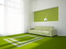 Grünes Innenkonzept Stockfotos