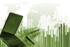 Grünes Internet-Konzept Stockbilder
