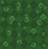 Grünes irisches Muster Stockbild