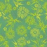 Grünes japanisches mit Blumenmuster Lizenzfreies Stockbild