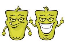Grünes Karikaturmonster Stockfotos