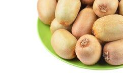 Grünes Kiwi Actinidia deliciosa Stockfoto