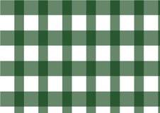 Grünes klassisches Kontrollmuster, Vektor Lizenzfreie Stockbilder